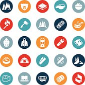 Camping and Outdoor Recreation Icons