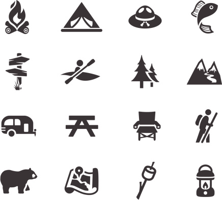 Camping and Outdoors Symbols