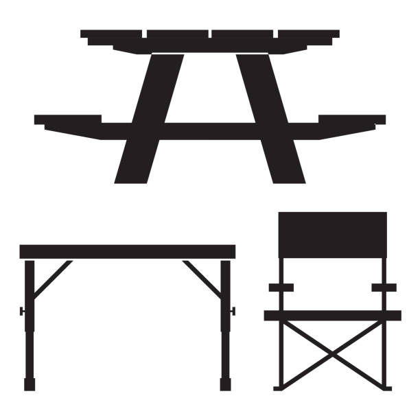royalty free garden table clip art vector images illustrations istock. Black Bedroom Furniture Sets. Home Design Ideas