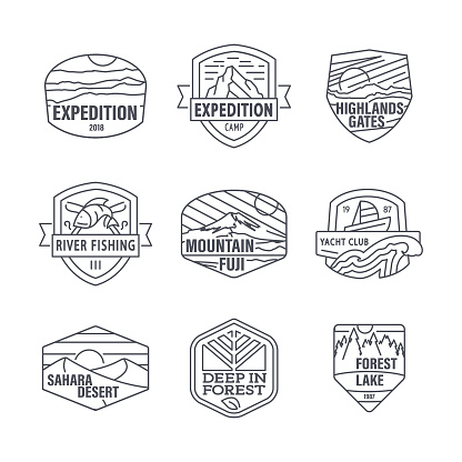 Camping and Travel Editable Line Icons