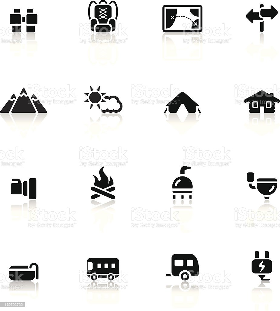 Camping and Travel Icon Set 2/3 | Simple Collection royalty-free stock vector art
