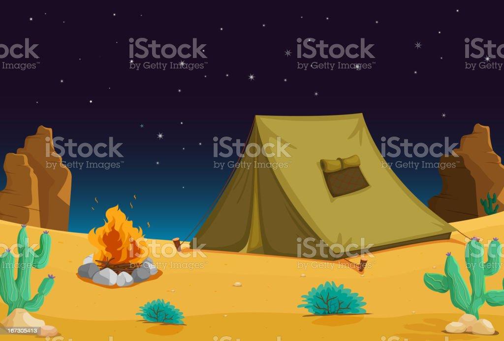 Camping at night royalty-free stock vector art