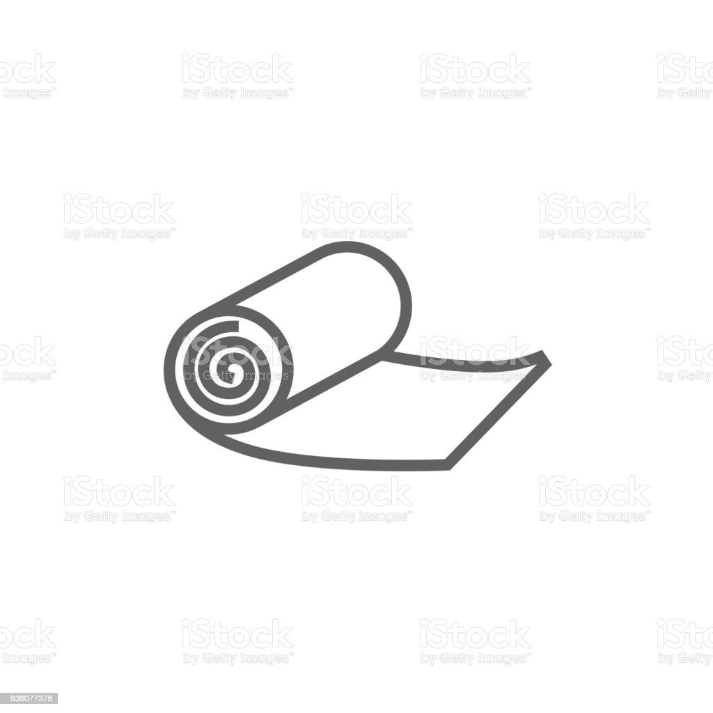Camping carpet line icon vector art illustration