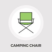 Camping chair Vector Flat Icon