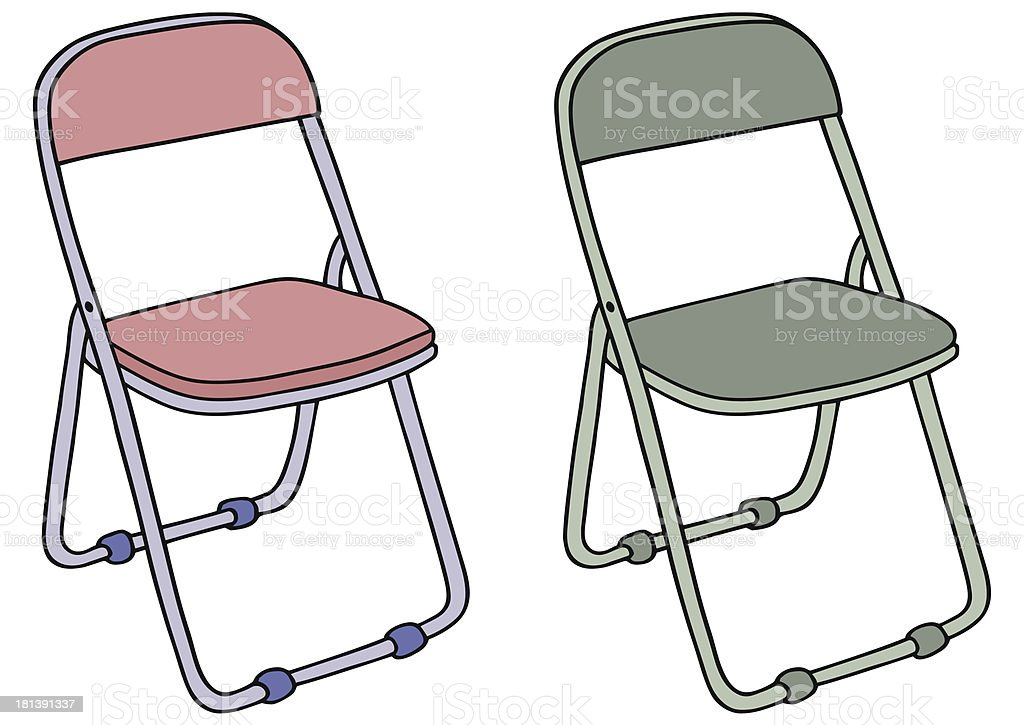 camping chair royalty-free stock vector art