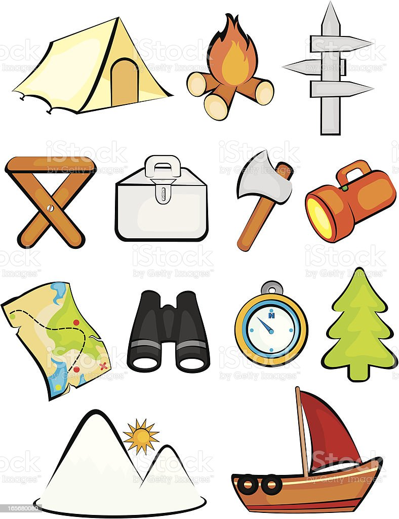 Camping Clipart And Icons Royalty Free Stock Vector Art Amp
