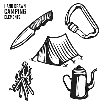 Camping Elements and Hiking Tool Set collection