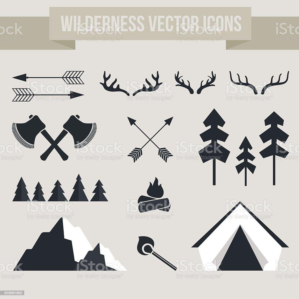Camping Elements vector art illustration