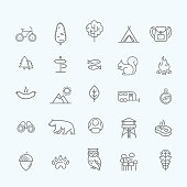 Camping, Forest, Nature & Outdoor Activities icons