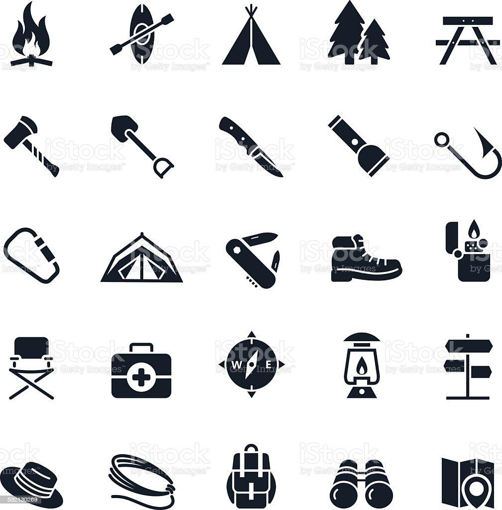 Camping icon vector art illustration