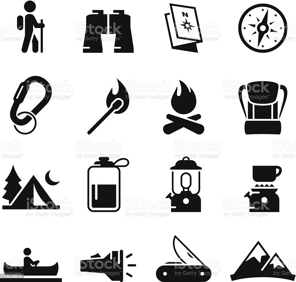 Camping Icons Black Series Stock Vector Art & More Images ...