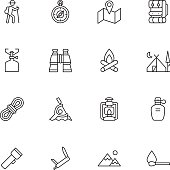 Camping Icons - Light