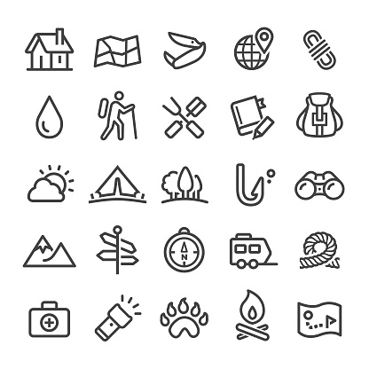 Camping Icons - Smart Line Series