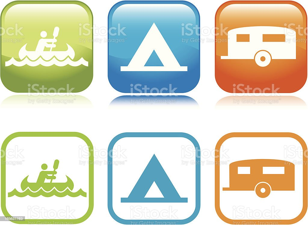 Camping Icons royalty-free camping icons stock vector art & more images of blue