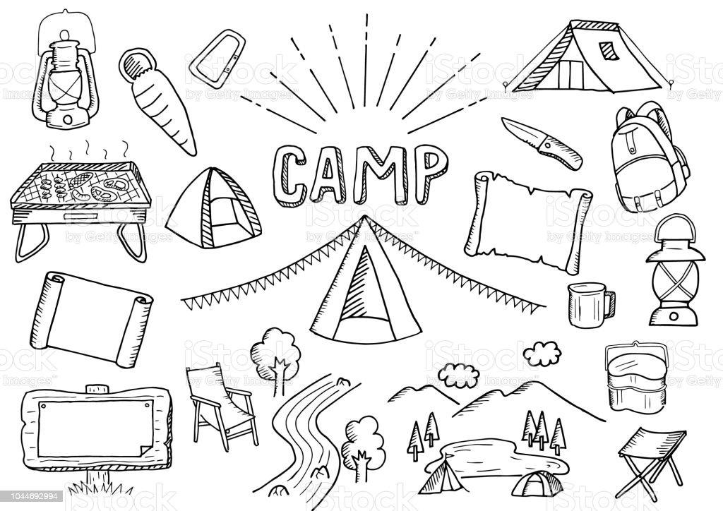 camping illustration set