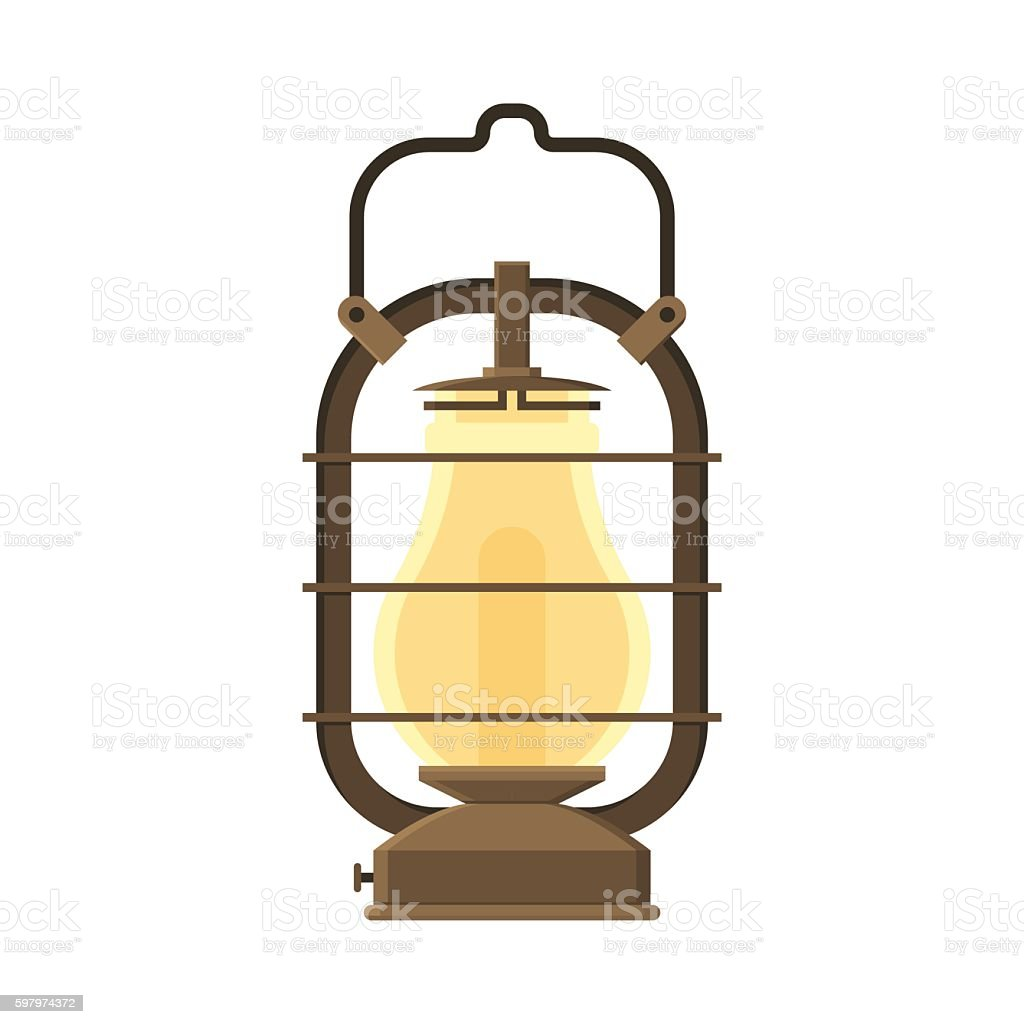 Camping Lantern Or Gas Lamp Royalty Free Stock Vector Art