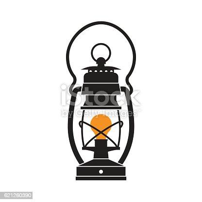 Camping Lantern Or Gas Lamp Stock Vector Art 621260390