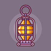 Camping Lantern or Kerosine Lamp Icon