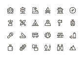 Camping - Line Icons