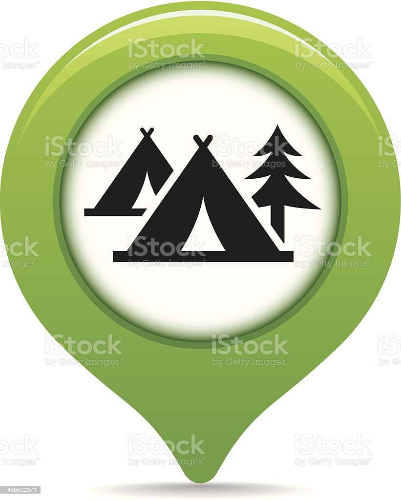 Camping map pointer royalty-free stock vector art
