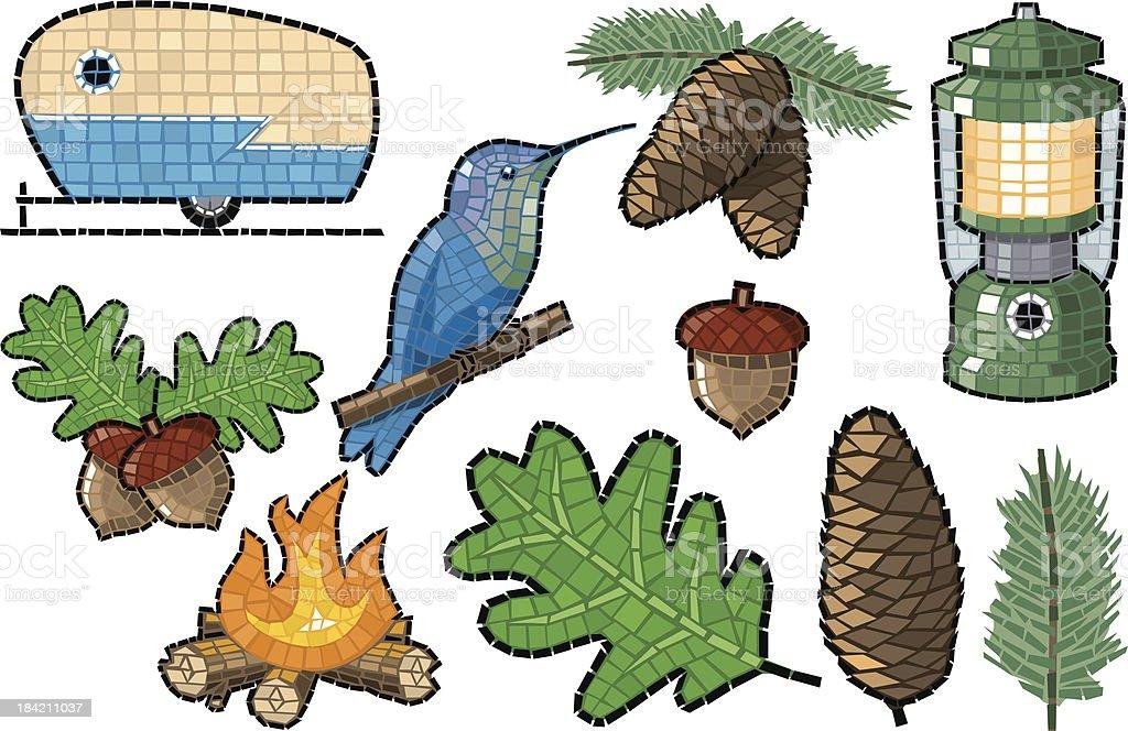 Camping Mosaic royalty-free stock vector art
