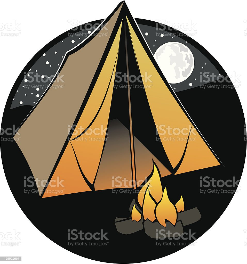 Camping out royalty-free stock vector art