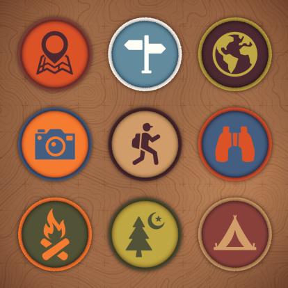 Camping Patch Symbols