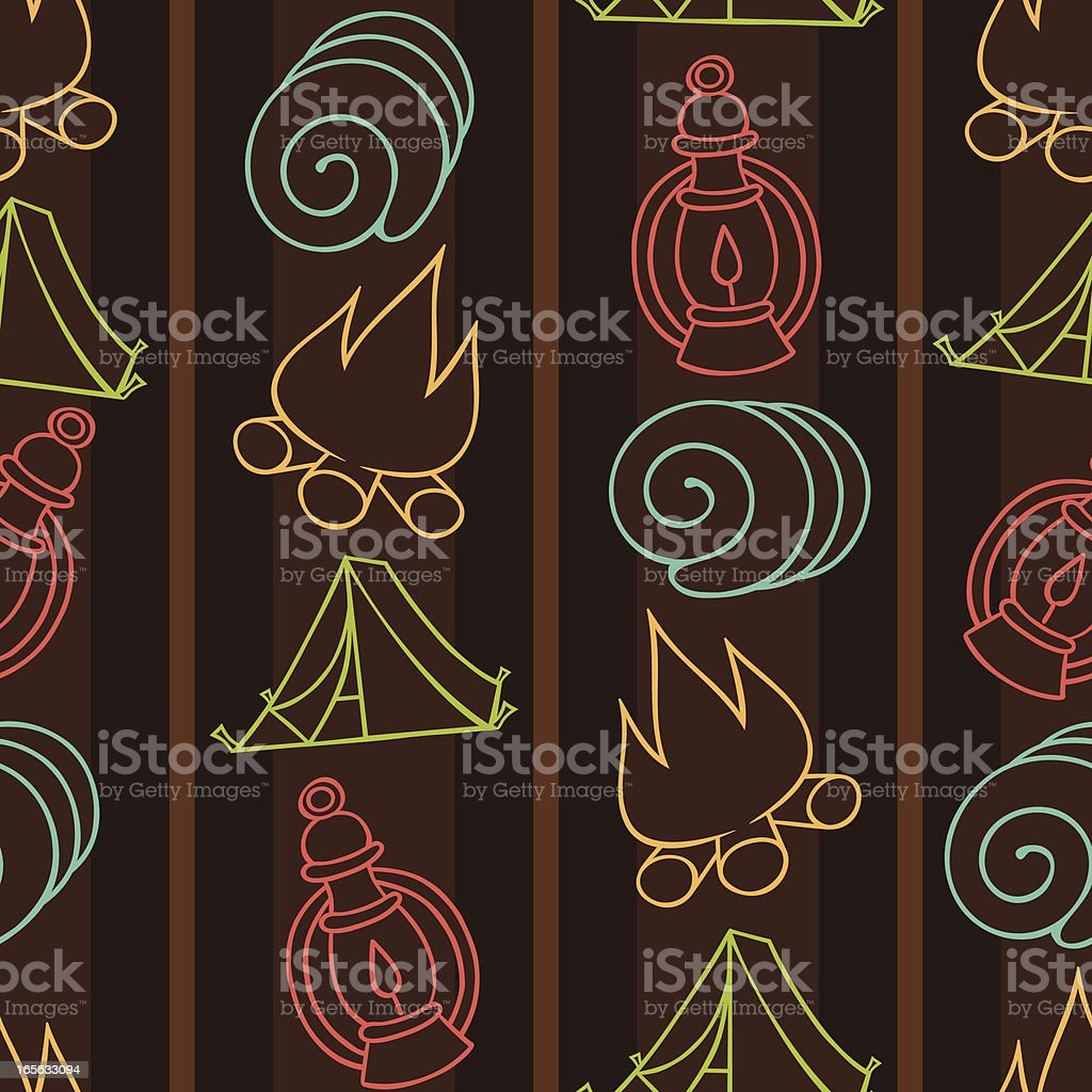 Camping Seamless Background Pattern royalty-free stock vector art