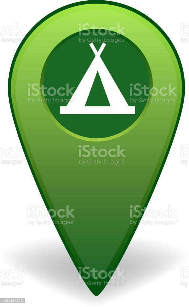 Camping site map pointer for GPS navigation royalty-free camping site map pointer for gps navigation stock vector art & more images of advice