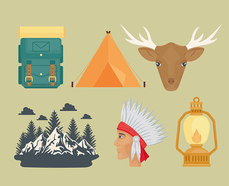 camping six icons