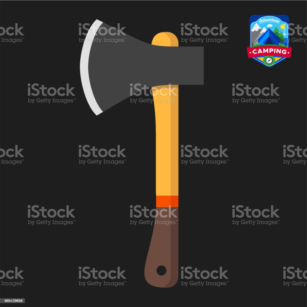 Camping summer Axe icon. Outdoor camp tourism. Isolated vector illustration in cartoon style royalty-free camping summer axe icon outdoor camp tourism isolated vector illustration in cartoon style stock vector art & more images of axe