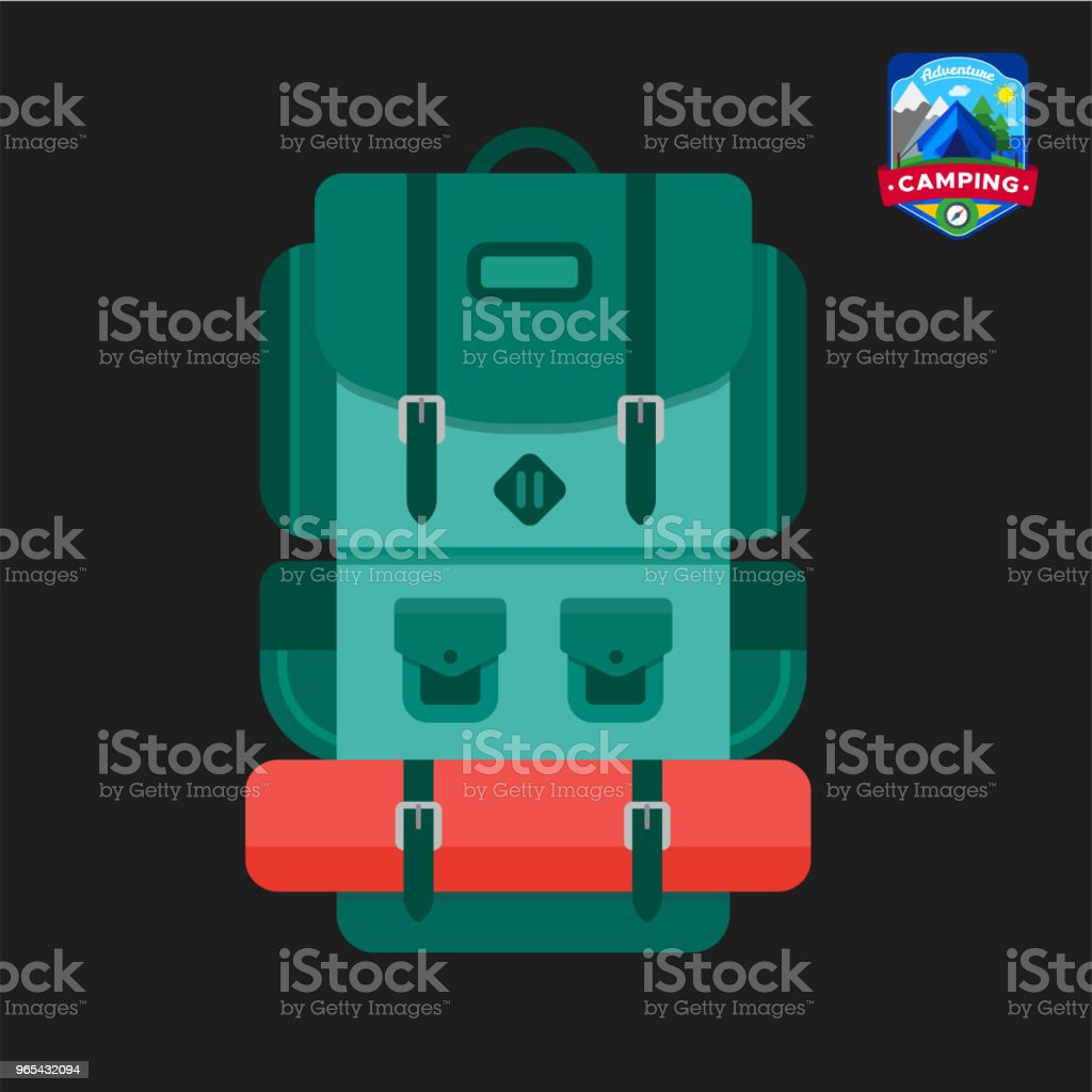 Camping summer Backpack icon. Outdoor camp tourism. Isolated vector illustration in cartoon style royalty-free camping summer backpack icon outdoor camp tourism isolated vector illustration in cartoon style stock vector art & more images of backpack
