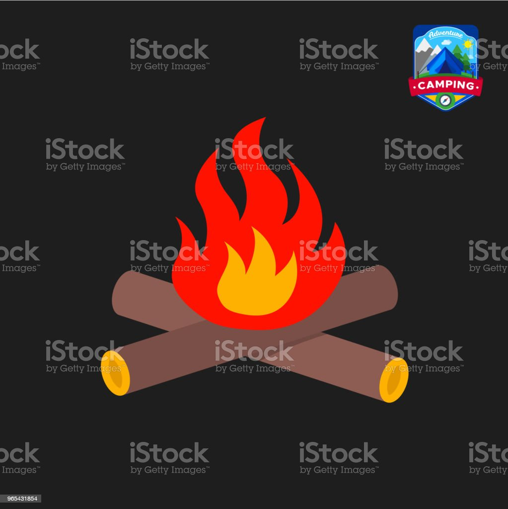 Camping summer Campfire icon. Outdoor camp tourism. Isolated vector illustration in cartoon style royalty-free camping summer campfire icon outdoor camp tourism isolated vector illustration in cartoon style stock vector art & more images of campfire