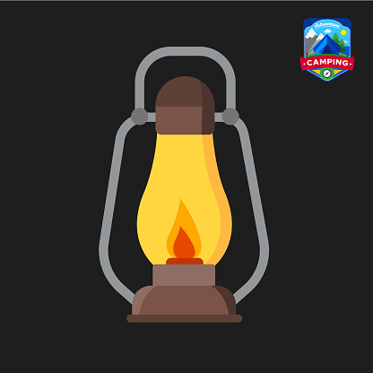 Icône De Lanterne Camping Lété Tourisme De Plein Air Camp Illustration Vectorielle Isolé En Style Cartoon Vecteurs libres de droits et plus d'images vectorielles de Contour