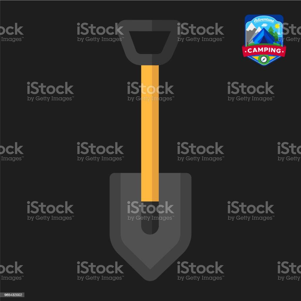 Camping summer Shovel icon. Outdoor camp tourism. Isolated vector illustration in cartoon style camping summer shovel icon outdoor camp tourism isolated vector illustration in cartoon style - stockowe grafiki wektorowe i więcej obrazów bez ludzi royalty-free