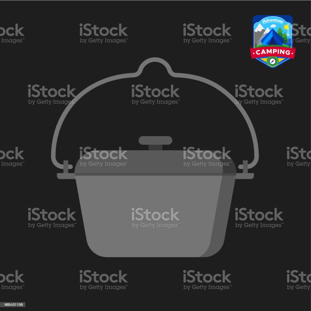 Camping summer tourist pot icon. Outdoor camp tourism. Isolated vector illustration in cartoon style royalty-free camping summer tourist pot icon outdoor camp tourism isolated vector illustration in cartoon style stock vector art & more images of design