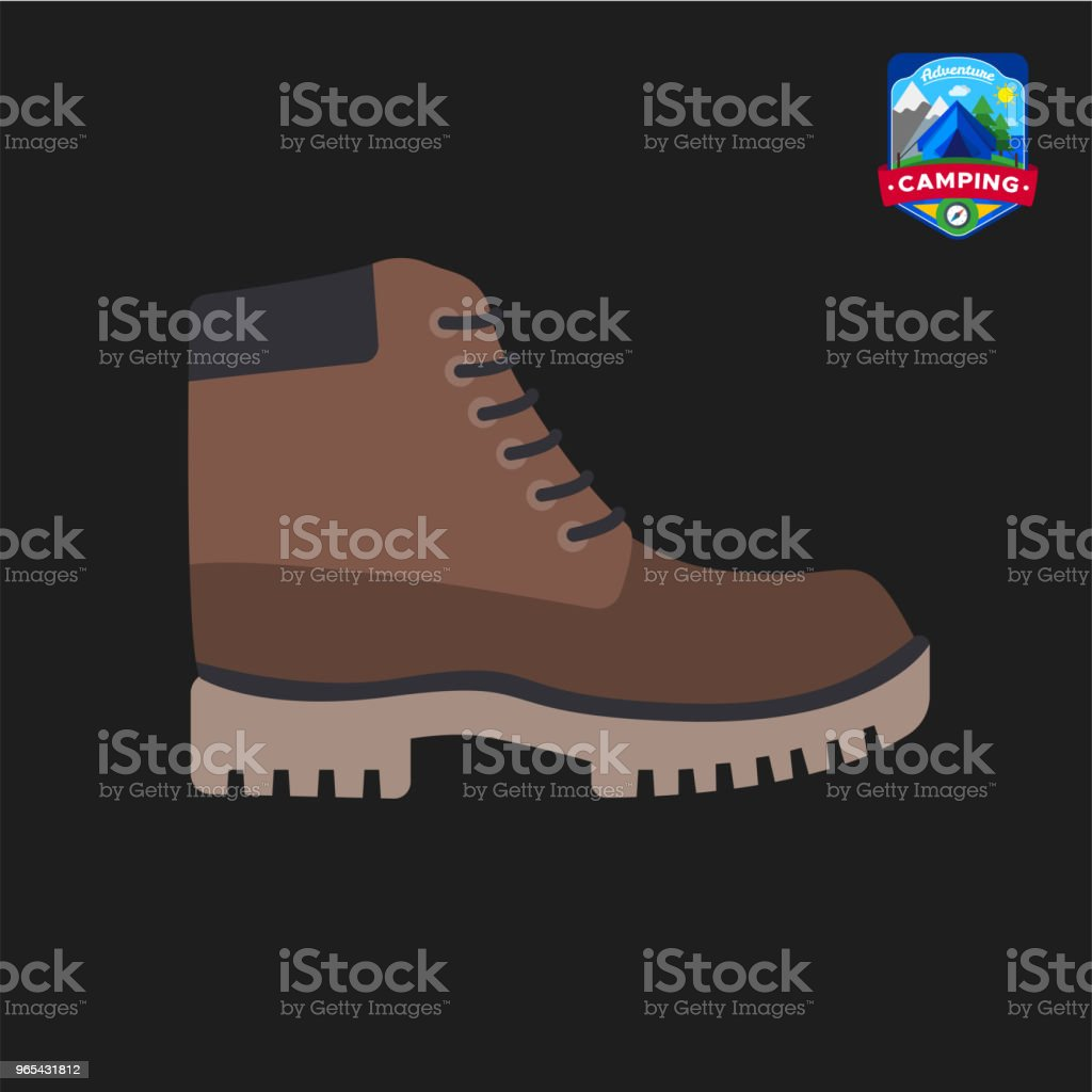 Camping summer tourist shoes icon. Outdoor camp tourism. Isolated vector illustration in cartoon style royalty-free camping summer tourist shoes icon outdoor camp tourism isolated vector illustration in cartoon style stock vector art & more images of design