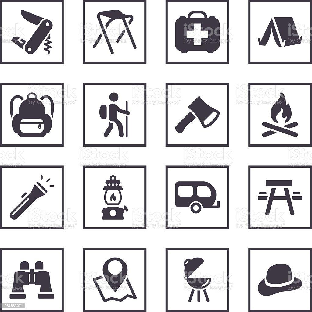Camping symbols stock vector art more images of 2015 531882071 camping symbols royalty free camping symbols stock vector art amp biocorpaavc