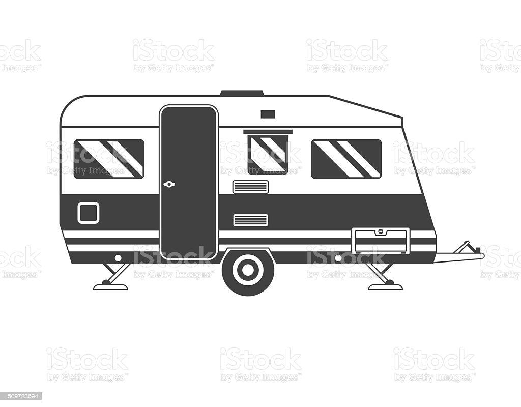 Campamento Remolque De Camión Resumen Icono Ideal Para Familias ...