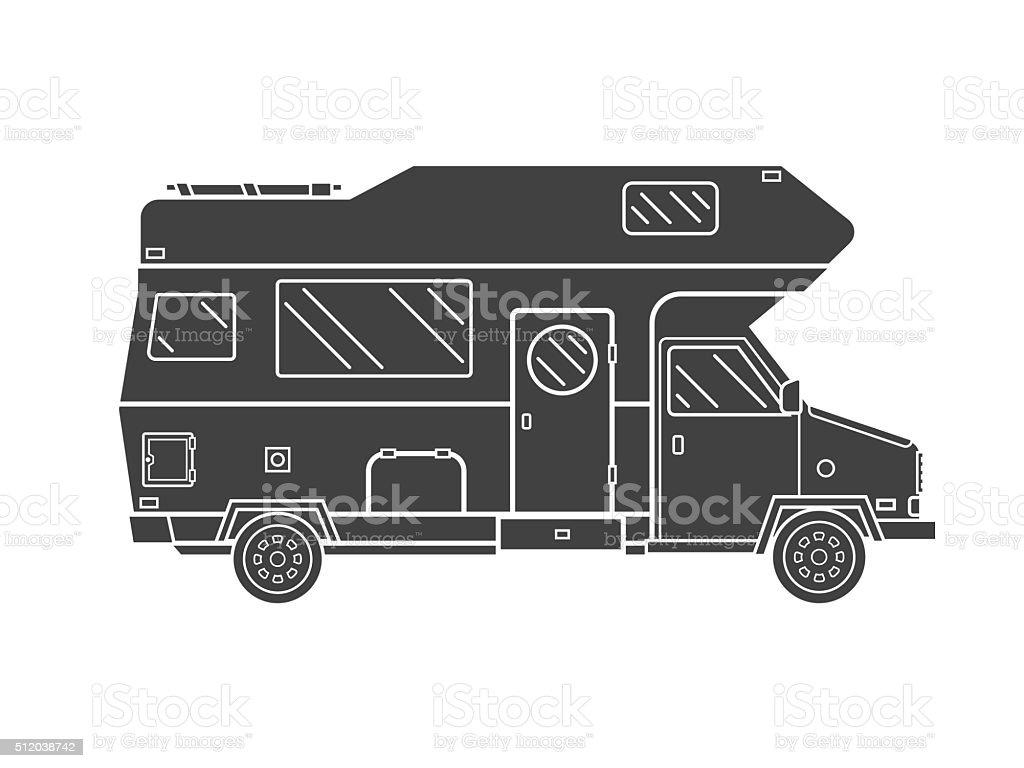 Ilustración de Campamento Remolque De Camión Resumen Icono Ideal ...