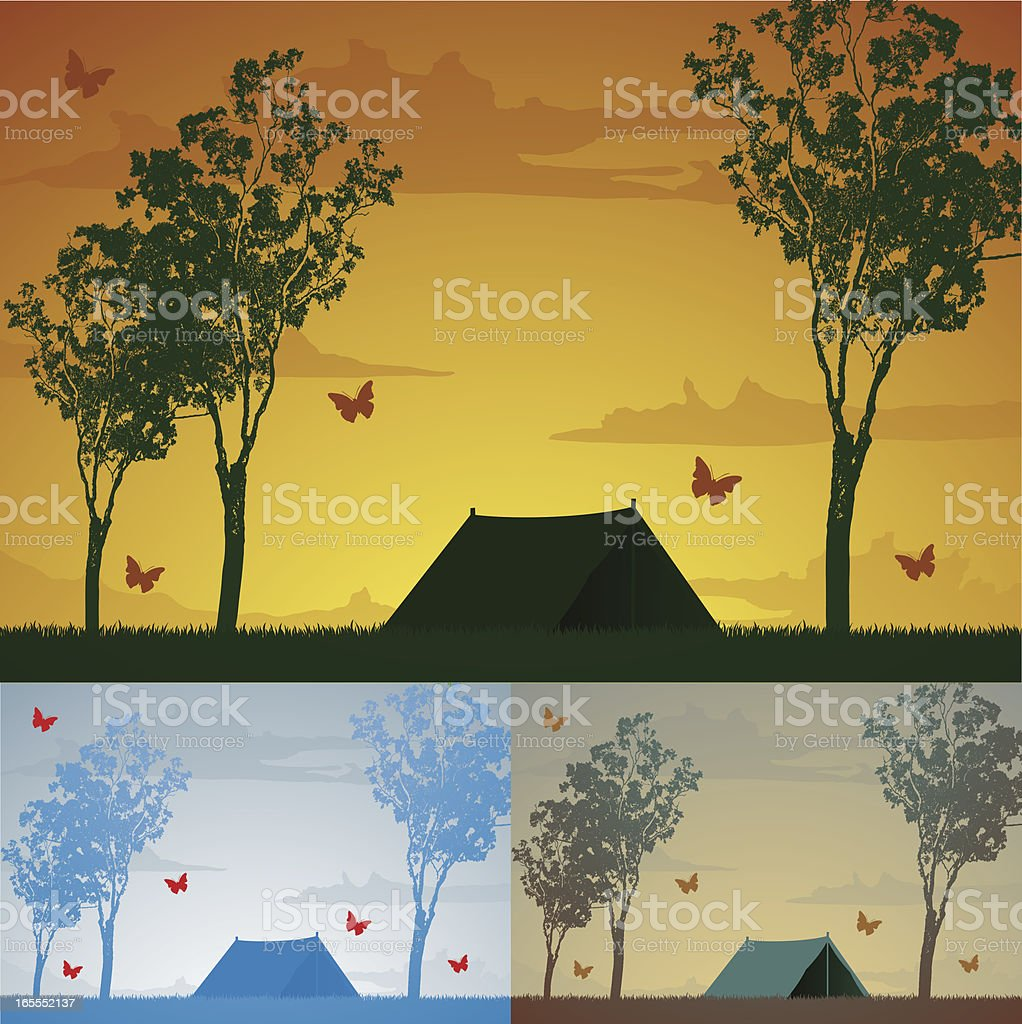 Camping royalty-free stock vector art