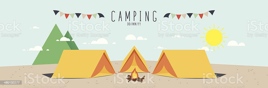 Camping (Day) vector art illustration