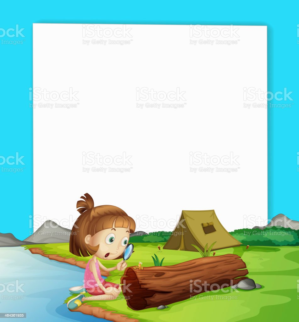 camping paper scene