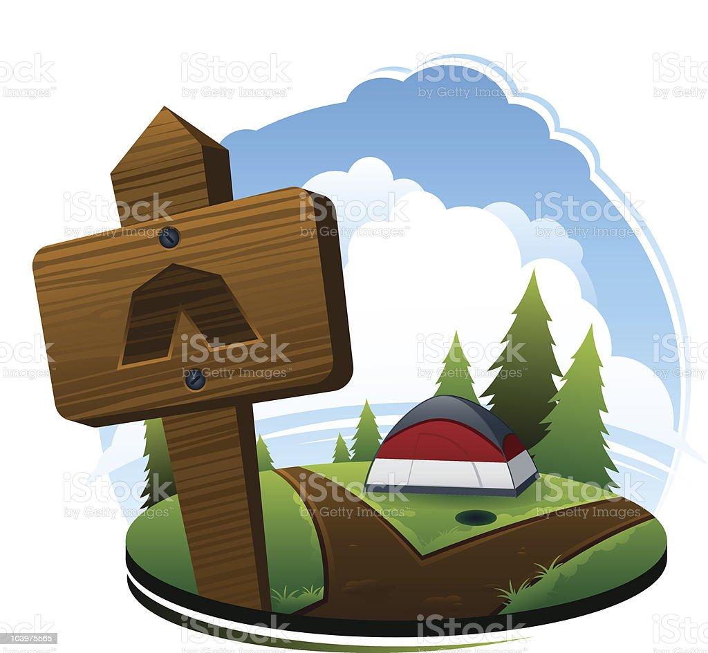 Campsite royalty-free stock vector art