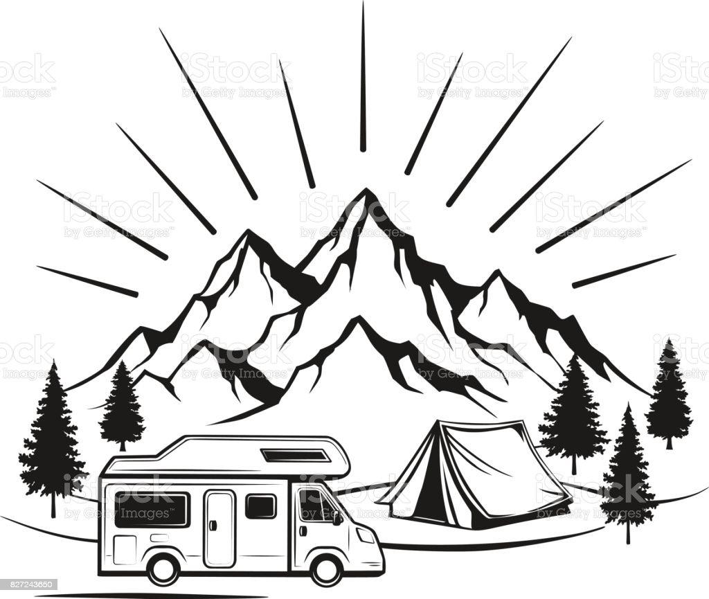 royalty free vintage caravan clip art  vector images
