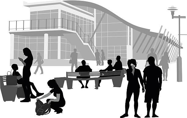 campus-bänke - gymnasium stock-grafiken, -clipart, -cartoons und -symbole