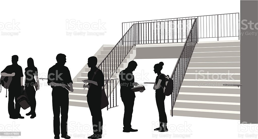 Campus Waiting royalty-free campus waiting stock vector art & more images of adult