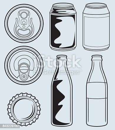 istock Can And Glass Bottle Containers 843226182