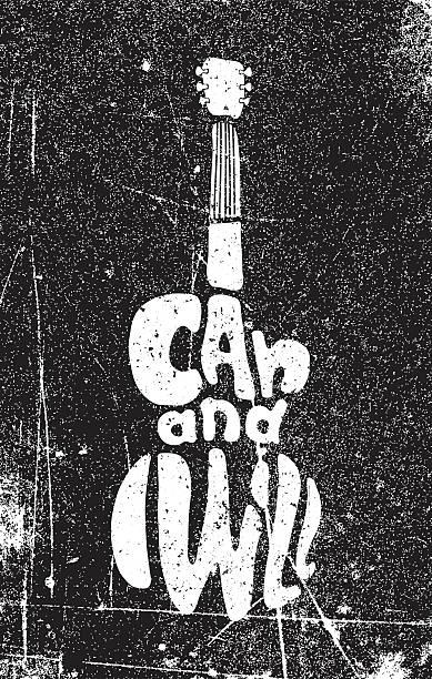Ich kann und werde. Hand Zeichnung motivierende grunge-poster – Vektorgrafik