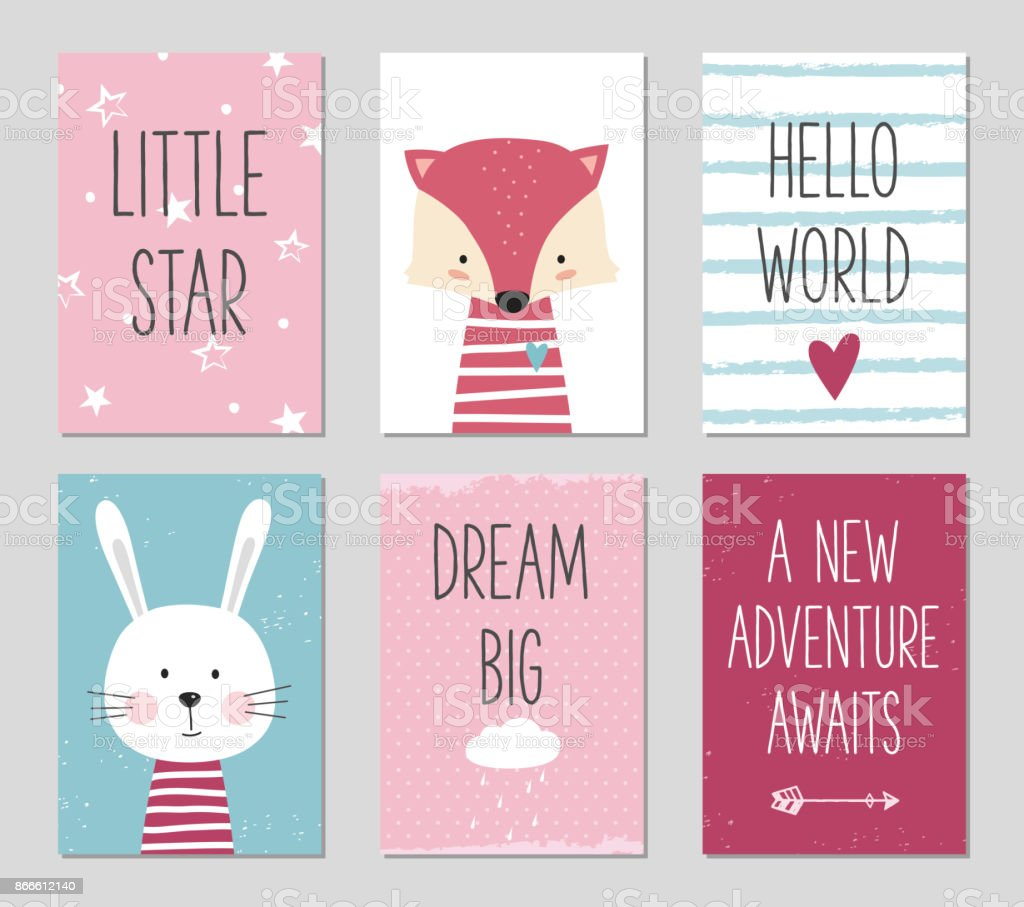 Can be used for baby shower, birthday, party invitation. vector art illustration